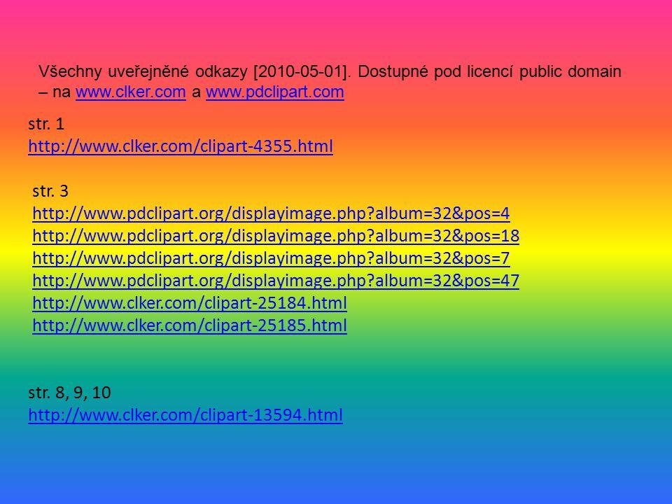 Všechny uveřejněné odkazy [2010-05-01]
